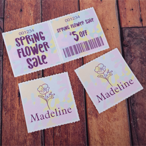 Flower-Sale-Coupon-2x4-Custom-Roll-Ticket